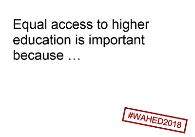 Equal access to higher education is important because ...