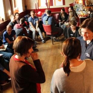 Regionaltreffen Baden-Württemberg in Karlsruhe: Gesprächsrunde (Foto: ArbeiterKind.de)