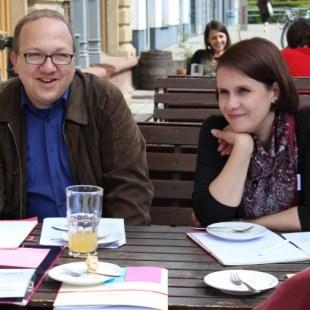 Regionaltreffen Baden-Württemberg in Karlsruhe: Da der Tag sehr schön war, waren wir viel draußen. (Foto: ArbeiterKind.de)