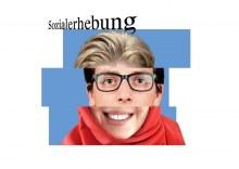 Werbebild zur 21 Sozialerhebung: Gesicht das aus drei Gesichtern zusammengesetzt wurde.