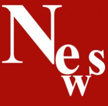 """Das Wort """"News"""" in weißer Schrift auf rotem Grund."""