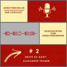 Cover für unseren Podcast mit Mikrofon und Tonspur: Folge 2