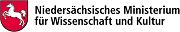 Logo des Niedersächsisches Ministeriums für Wissenschaft und Kultur mit dem Link auf die Darstellung des Förderers